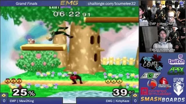 KirbyKaze with the clean ledge guard nair against Mew2King