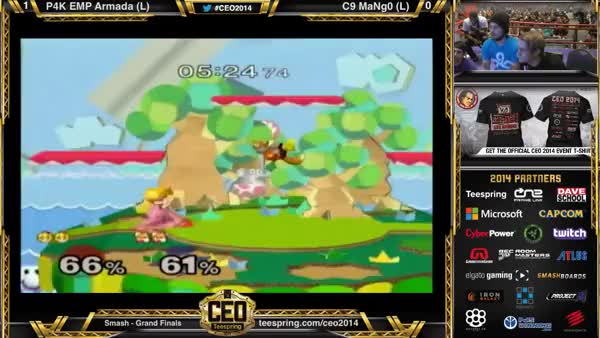 Fantastic conversion from a F-Throw interrupted by a Shy Guy from Armada!