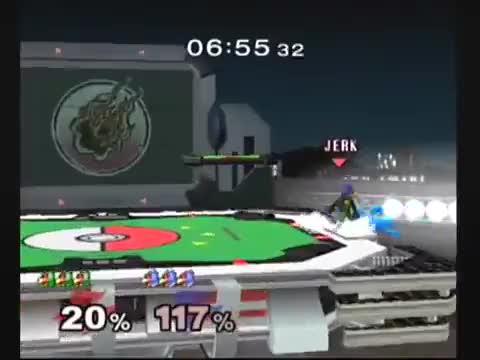I love when up smash combos and bad DI.