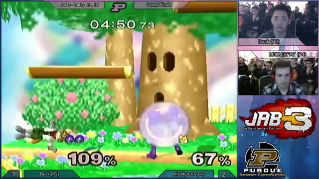 Duck with a crazy Samus edgeguard on SFAT