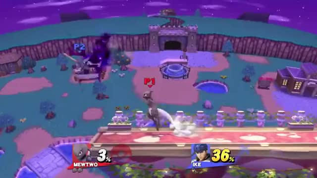 Edgeguarding with Mewtwo