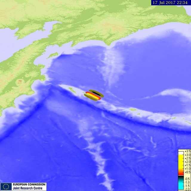 Moving tsunami animation