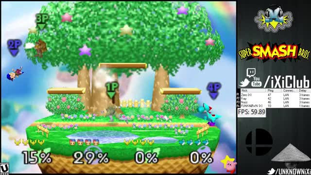 Zero's Falcon gets REKT by Fray's Ness, Nazz's Falcon, & FUNKNOWN's Yoshi