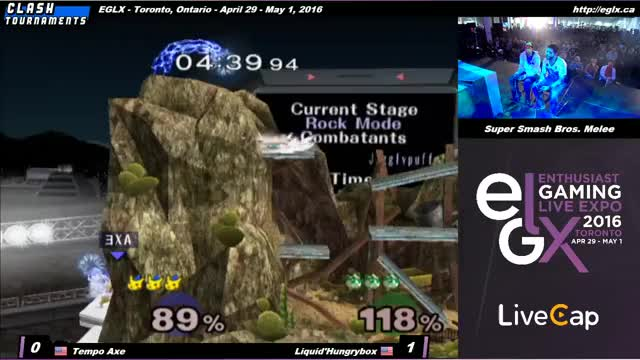 Hungrybox tries to sneak up on Axe during the rock transformation