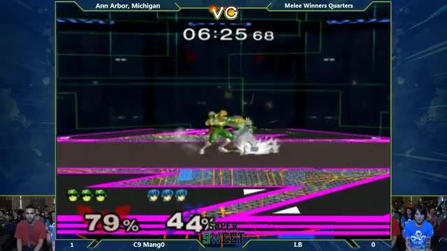 Very creative use of side-b by IB on Mango – Super SWEET – C9 Mang0 (Falco, Falcon) Vs. IB (Marth) SSBM Winners Quarters – Melee