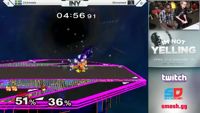 Armada shows his amazing edge-guarding options against Shroomed at I'm Not Yelling
