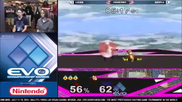 Lucien with a cool combo to end his set against Birdflu at EVO 2015