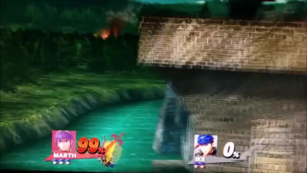 Marth ledgedash, barely any landing lag