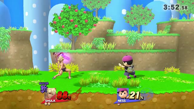 So I countered PK Flash with Shulk while having Buster…