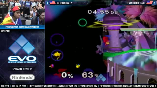Axe smacks westballz with the party hat a dozen times