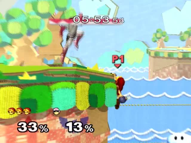 Insane Young Link Edgeguard Disrespect on Falcon