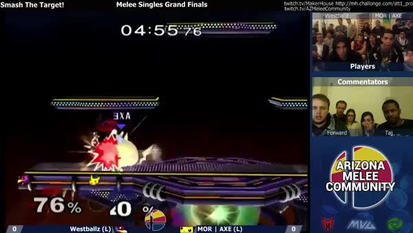 Westballz with the Mango level disrespect at smash the target (x-post from r/smashbros)