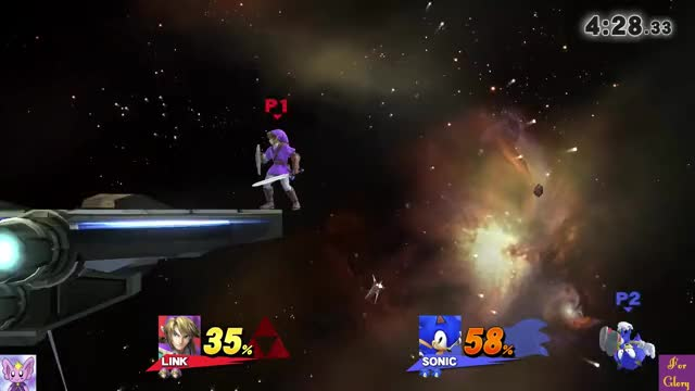 Link bomb to spin attack edgeguard