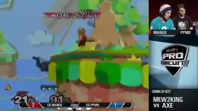 PPMD's Marth against Mango in Winners Semis at MLG. More PPMD gifs in comments!