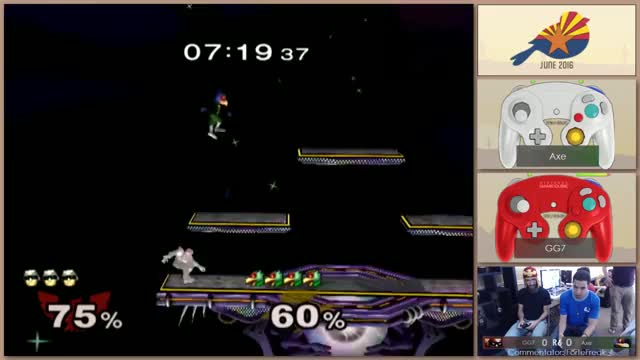 Axe's Falco has lightning fast shield pressure.