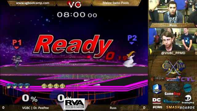 PPMD's Marth baits and punishes a turnip.