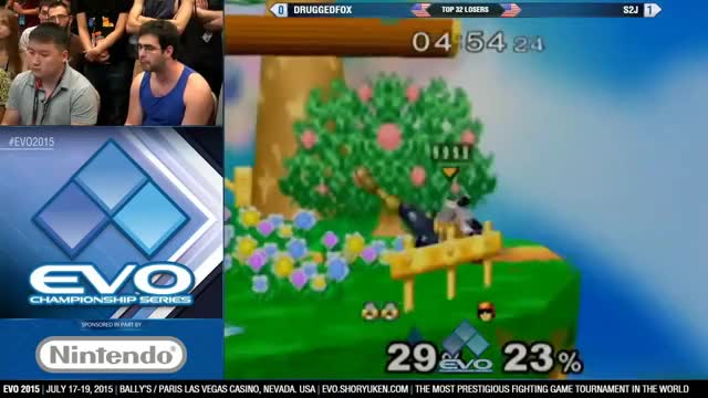 DruggedFox's Sheik takes S2J across all of Dreamland for a clean KO