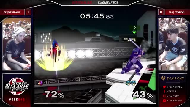 PewPewu with the sick edgeguard on Westballz