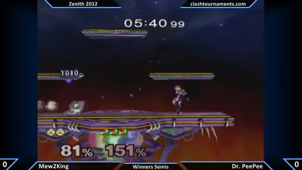 Mew2king chaingrabs Dr.PeePee with Up-throw