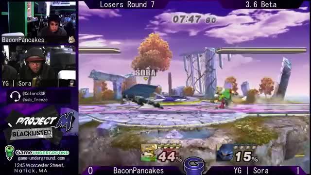 Sora's disgusting platform combo on Bacon Pancakes