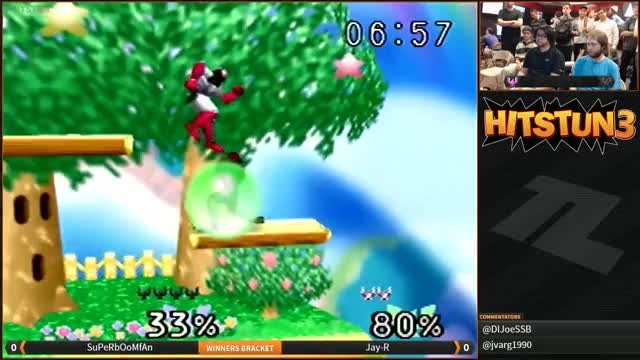 Boom converts an Upsmash OoS into a flashy kill
