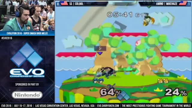 Colbol trounces Mike Haze on Yoshi's with Marth.