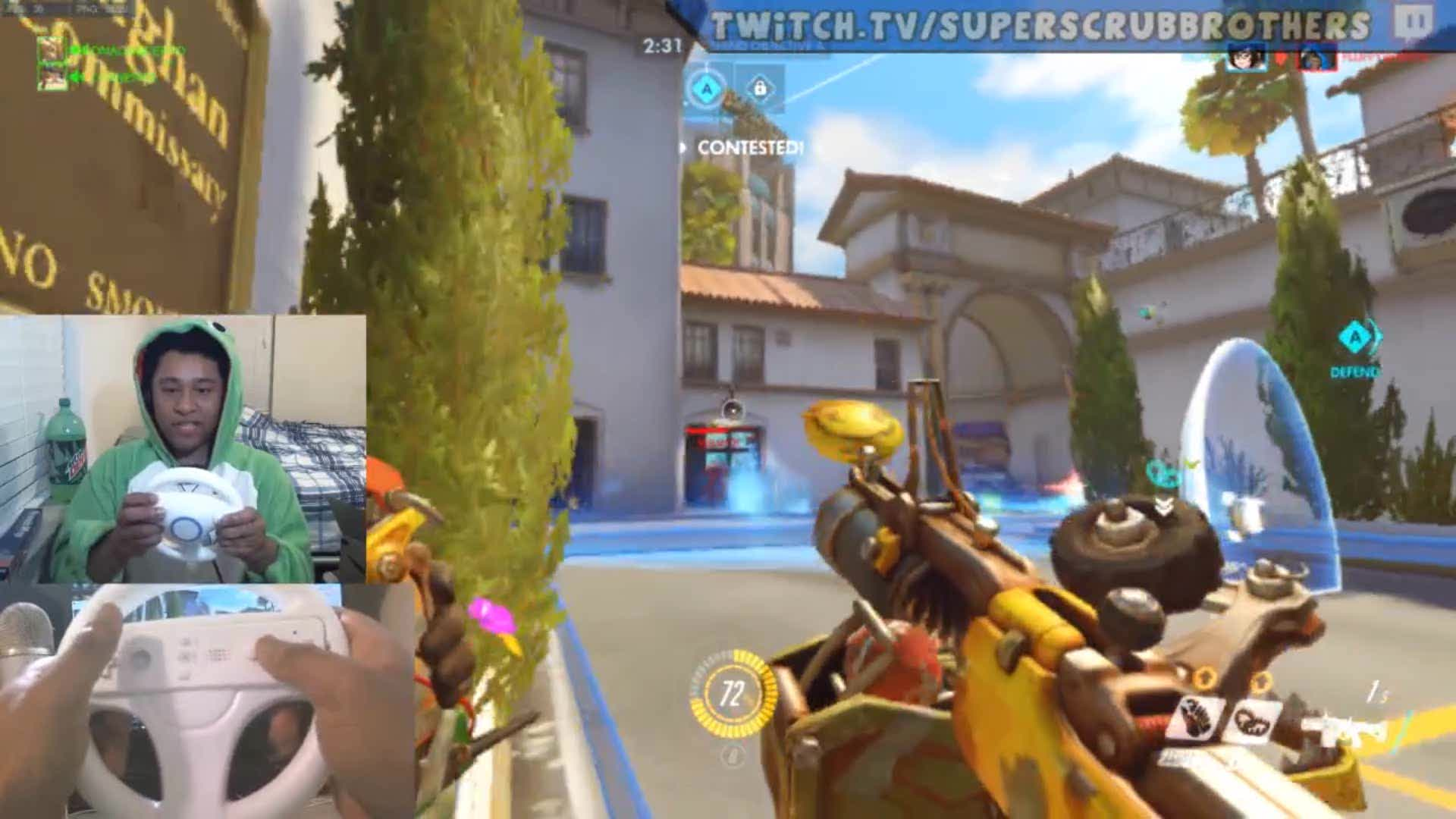 i played junkrat with a mario kart steering wheel drifts included