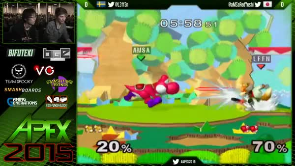 aMSa's red yoshi is brutal