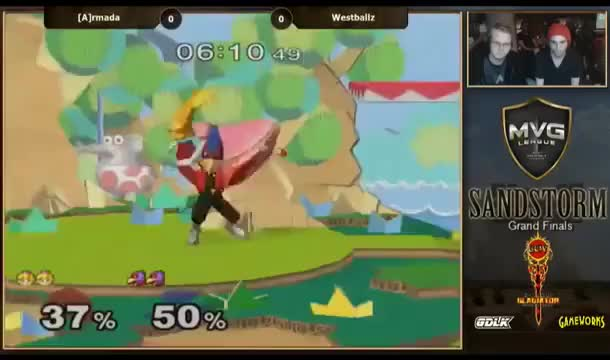 Westballz with the smooth edgeguard on Armada