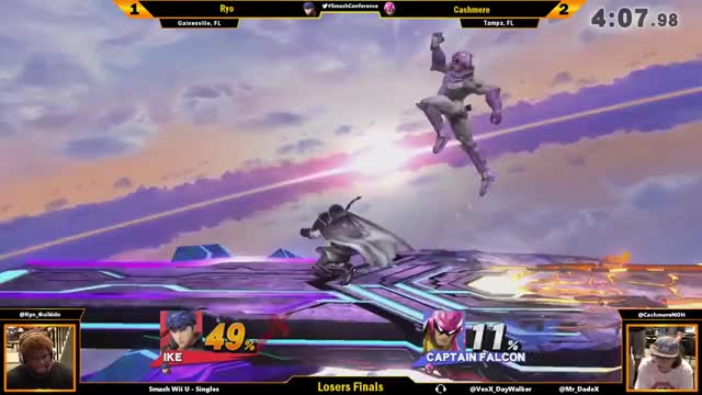 Cashmere finishes the set against Ryo with an illegal Falcon combo