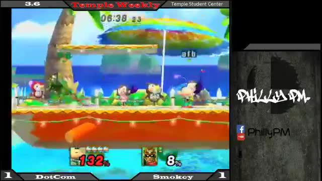 Dotcom's Olimar clutching out the four stock with a sweet 8% to death