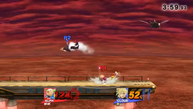 Using the late grab of Cloud's recovery against him