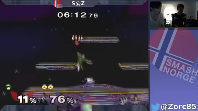 Sheik dthrow stage spikes Falcon