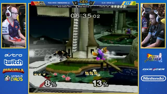 SFAT does 40% to Mew2King in one second