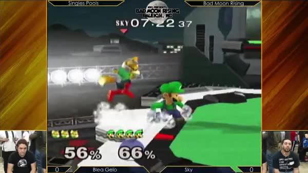 Blea Gelo lands the Luigi taunt in tournament!