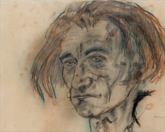 animated video of Antonin Artaud drawings in html5 gfycat format