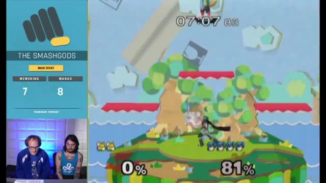 Mang0 power shields into a combo too hype for Gfycat.
