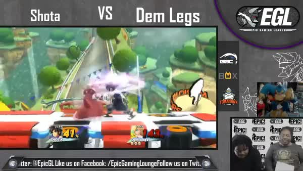 Pit amiibo with massive arrow disrespect. (Full video in comments)