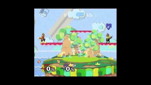 Fox/Falco No Impact Landing (NIL) Ledge to Platforms – with frames/inputs