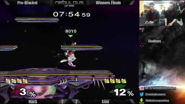 Hax ends Slox off one upthrow
