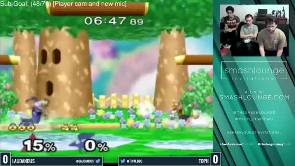 Laudandus with the relentless edgeguard on Toph!