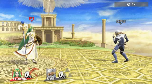 TIL that Palutena has a wind effect around her.