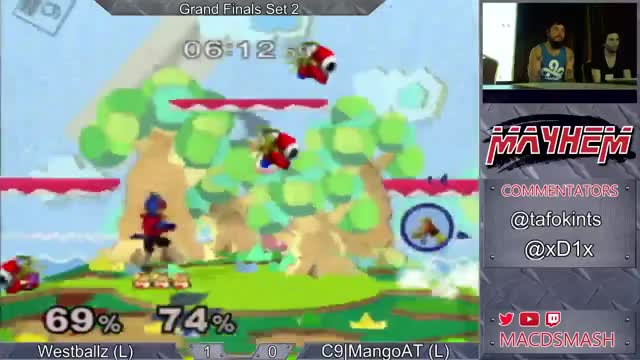 Westballz' slick edgeguard on Mango