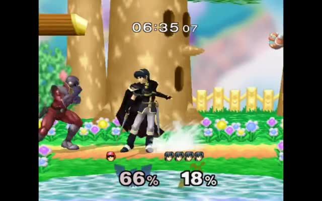 Falco combo with Marth.