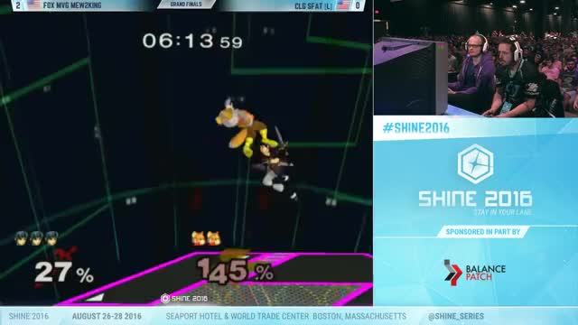 Mew2king's super smart side b on SFAT at Shine 2016