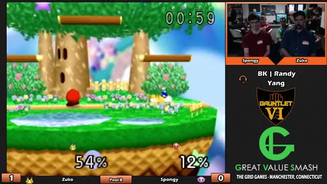 Spongy's Kirby with the clutchest edgeguard reversal