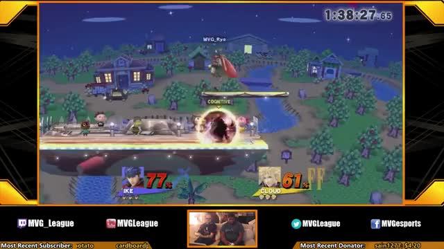 Fantastic edgeguard by Ryo (Ike) against M2K (Cloud)