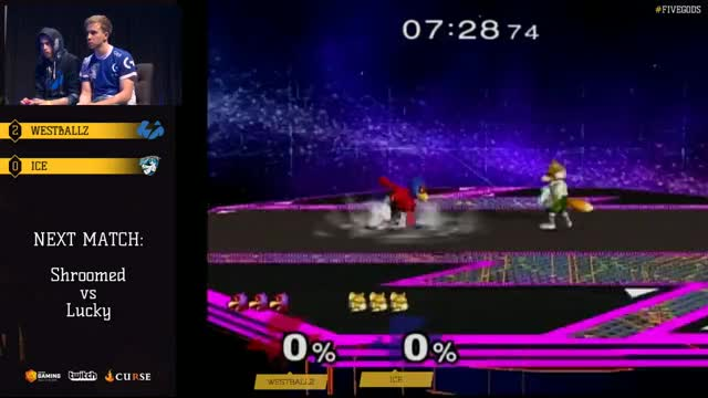 Ice kills westballz for smash DIing a shine in