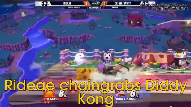 Pikachu chain grab combo.
