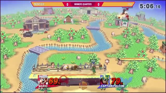 Double Cape Gimp I did on Falcon (in tournament)